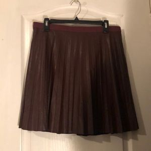 J.Crew faux leather skirt